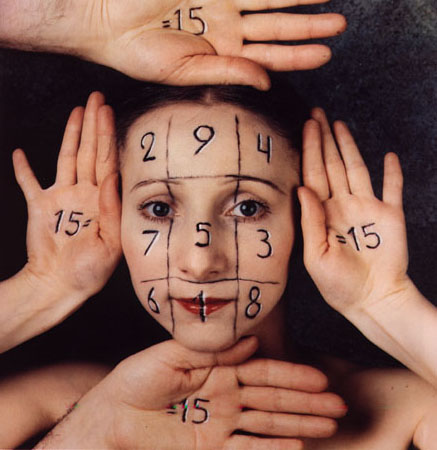 gerlovina berghash gerlovin magic square 1987 ektacolor print 15 x 15