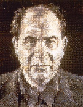 Chuck Close ritratti contemporanei